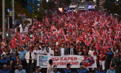 Beşiktaş'ta 30 Ağustos Zafer Bayramı coşku ile kutlandı