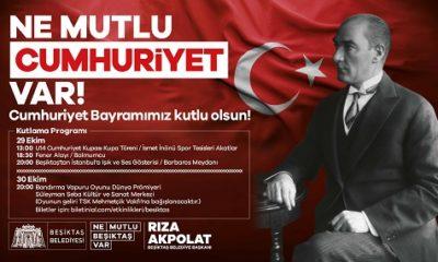 29 Ekim Cumhuriyet Bayramı tüm gün sürecek etkinliklerle kutlanacak
