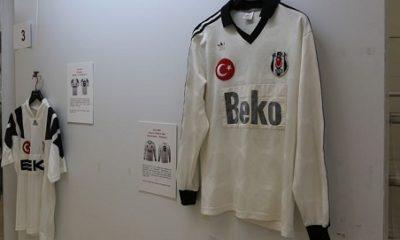 Beşiktaş'ın tarihi formaları sergide görücüye çıktı