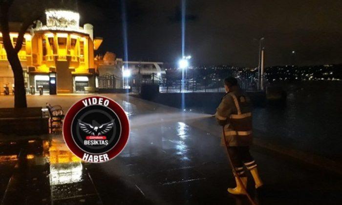 Beşiktaş sokakları böyle temizleniyor