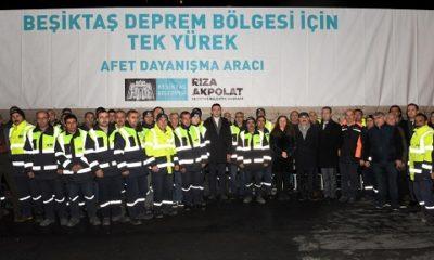 Beşiktaş'ta Elazığ'a yardım tırları yola çıktı