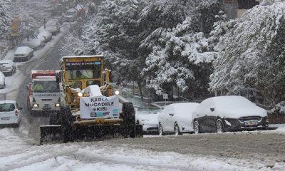 Beşiktaş'ta kar mesaisi başladı