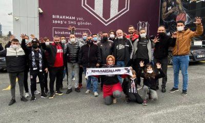 Beşiktaşlı taraftarlardan TBF'nin kararına protesto