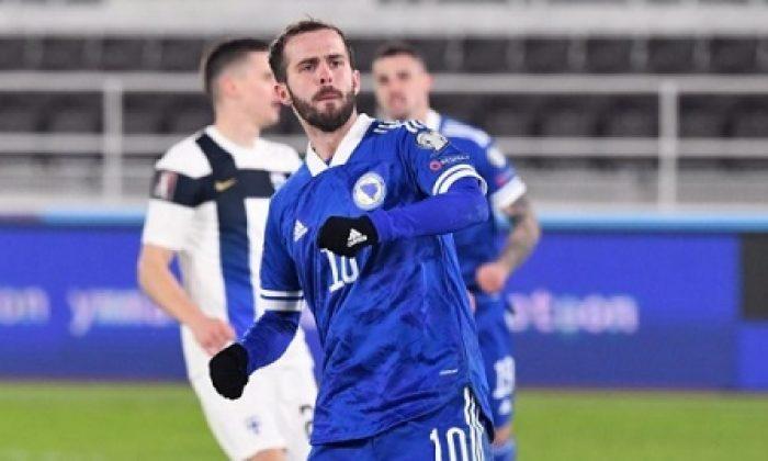 Miralem Pjanic, Bosna Hersek-Kazakistan maçında şov yaptı